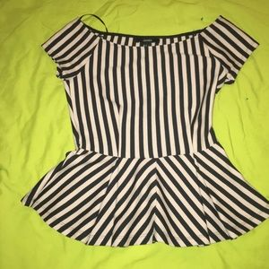 Forever21 off the shoulder striped blouse